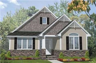 3-Bedroom, 1800 Sq Ft Bungalow House Plan - 146-1899 - Front Exterior