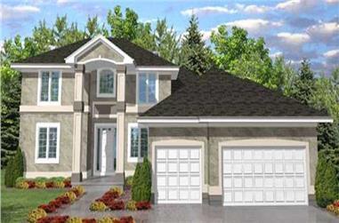 4-Bedroom, 3114 Sq Ft European Home Plan - 146-1901 - Main Exterior