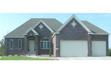 3-Bedroom, 1790 Sq Ft European House Plan - 146-1902 - Front Exterior