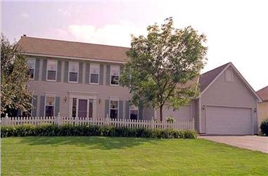 4-Bedroom, 2158 Sq Ft Colonial Home Plan - 146-1908 - Main Exterior