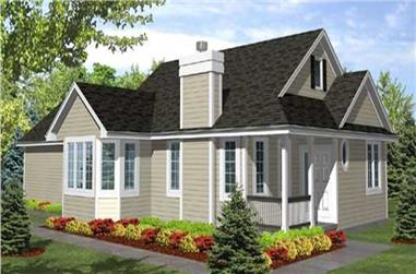 2-Bedroom, 1548 Sq Ft Country Home Plan - 146-1909 - Main Exterior