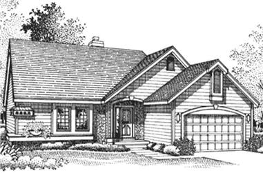 2-Bedroom, 1280 Sq Ft Country House Plan - 146-1913 - Front Exterior