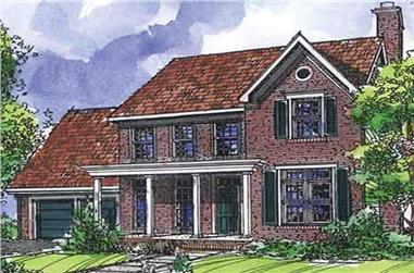 3-Bedroom, 2180 Sq Ft Country House Plan - 146-1916 - Front Exterior