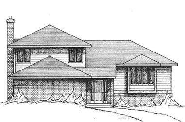 3-Bedroom, 2400 Sq Ft Contemporary House Plan - 146-1927 - Front Exterior