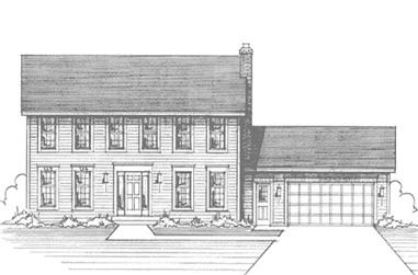 4-Bedroom, 2308 Sq Ft Colonial House Plan - 146-1931 - Front Exterior