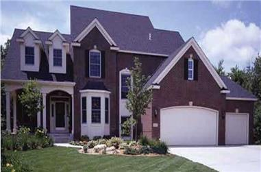 3-Bedroom, 2850 Sq Ft Country House Plan - 146-1932 - Front Exterior