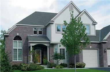 3-Bedroom, 2708 Sq Ft Country House Plan - 146-1936 - Front Exterior