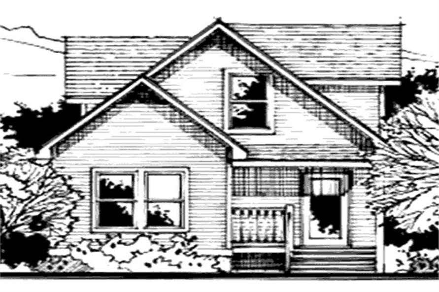 3-Bedroom, 1085 Sq Ft Country House Plan - 146-1937 - Front Exterior