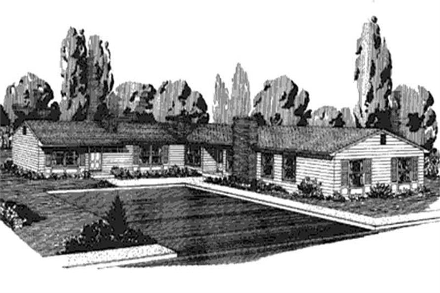 This is the front elevation of these Mulit-Unit Home Plans LS-H-580-1A3.