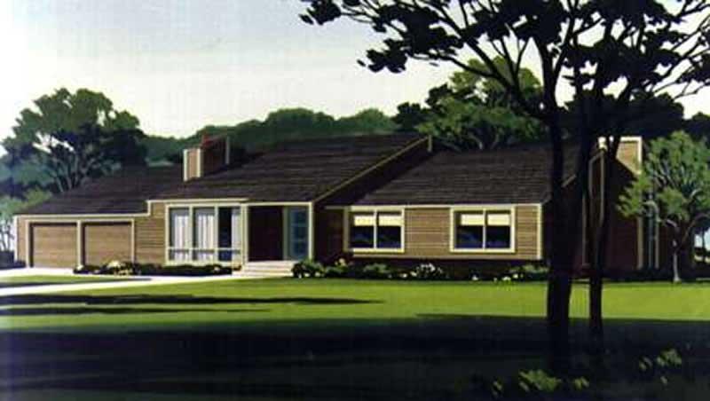 Ranch Home Plan - 3 Bedrms, 2 Baths - 1380 Sq Ft - #146-1940 on 1940s building plans, 1940s house plans, 1940s apartment plans, 1940s home, 1940s farmhouse plans,