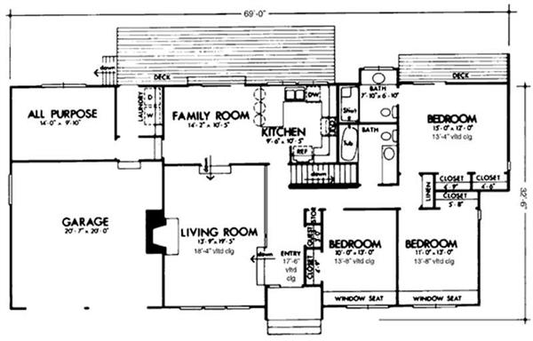 Antique Home::Vintage House Plans::1900 to 1960::Home Styles