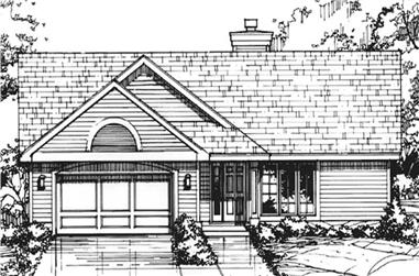 3-Bedroom, 1571 Sq Ft Country Home Plan - 146-1942 - Main Exterior