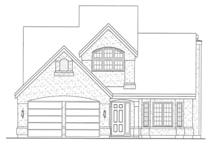 Home Plan Front Elevation of this 2-Bedroom,2275 Sq Ft Plan -146-1946