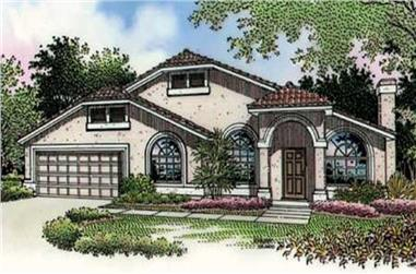 3-Bedroom, 1723 Sq Ft Florida Style House Plan - 146-1948 - Front Exterior