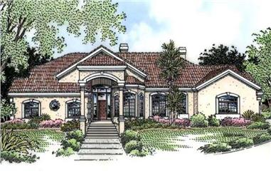 4-Bedroom, 4457 Sq Ft Florida Style House Plan - 146-1949 - Front Exterior