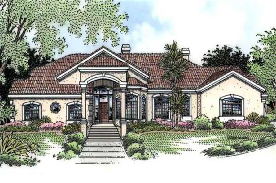 Mediterranean Florida Style House Plans Home Design Ls 95806 Bj 20716