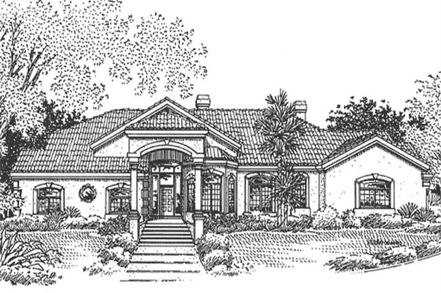 Home Plan Left Elevation of this 4-Bedroom,4457 Sq Ft Plan -146-1949