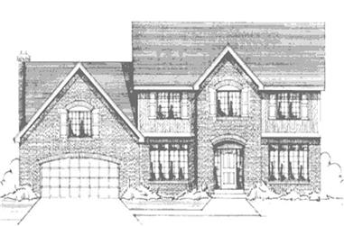 3-Bedroom, 2536 Sq Ft Colonial Home Plan - 146-1953 - Main Exterior