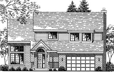 4-Bedroom, 2532 Sq Ft Country Home Plan - 146-1955 - Main Exterior