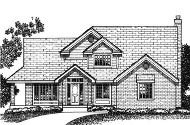 3-Bedroom, 2258 Sq Ft Country Home Plan - 146-1956 - Main Exterior
