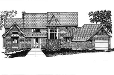 4-Bedroom, 5844 Sq Ft Country Home Plan - 146-1957 - Main Exterior