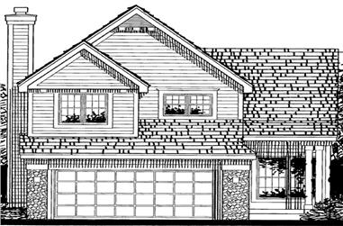 3-Bedroom, 2031 Sq Ft Country Home Plan - 146-1958 - Main Exterior
