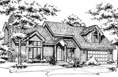 3-Bedroom, 3048 Sq Ft Colonial House Plan - 146-1961 - Front Exterior