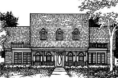 4-Bedroom, 3382 Sq Ft Colonial Home Plan - 146-1963 - Main Exterior