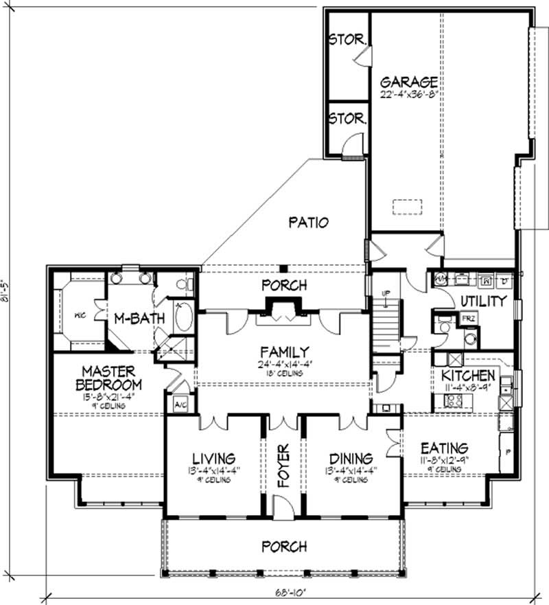 Southern colonial country house plans home design ls for Southern colonial floor plans