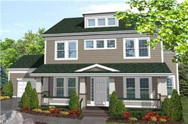 3-Bedroom, 2701 Sq Ft Ranch House Plan - 146-1965 - Front Exterior