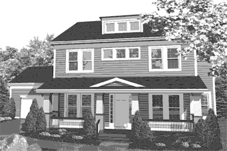 Home Plan Front Elevation of this 3-Bedroom,2701 Sq Ft Plan -146-1965