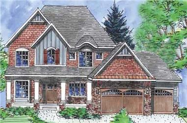 4-Bedroom, 3065 Sq Ft Country House Plan - 146-1967 - Front Exterior