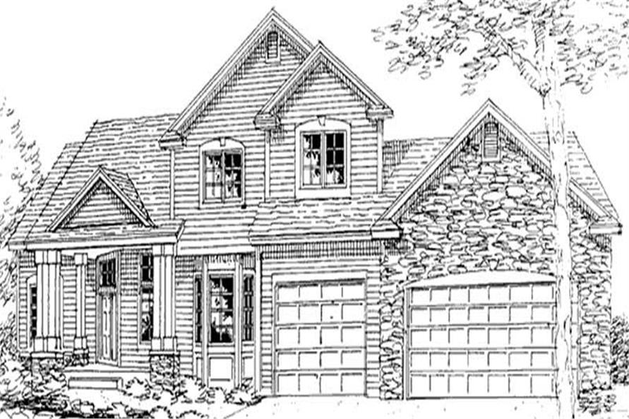 Home Plan Front Elevation of this 3-Bedroom,4172 Sq Ft Plan -146-1969