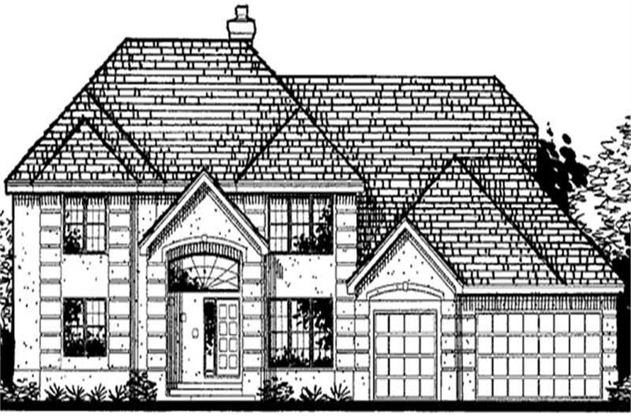 Main image for house plan # 20698