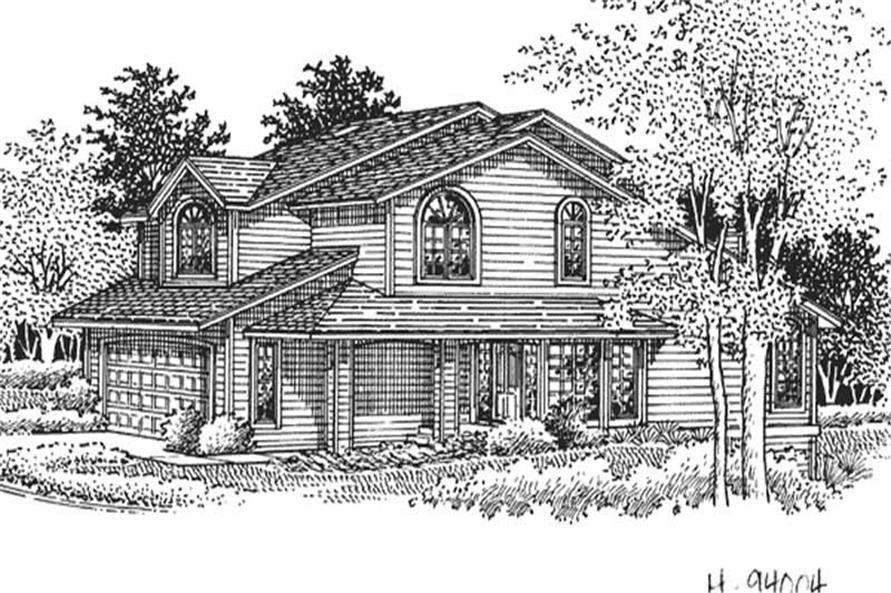 4-Bedroom, 2584 Sq Ft Country Home Plan - 146-1971 - Main Exterior