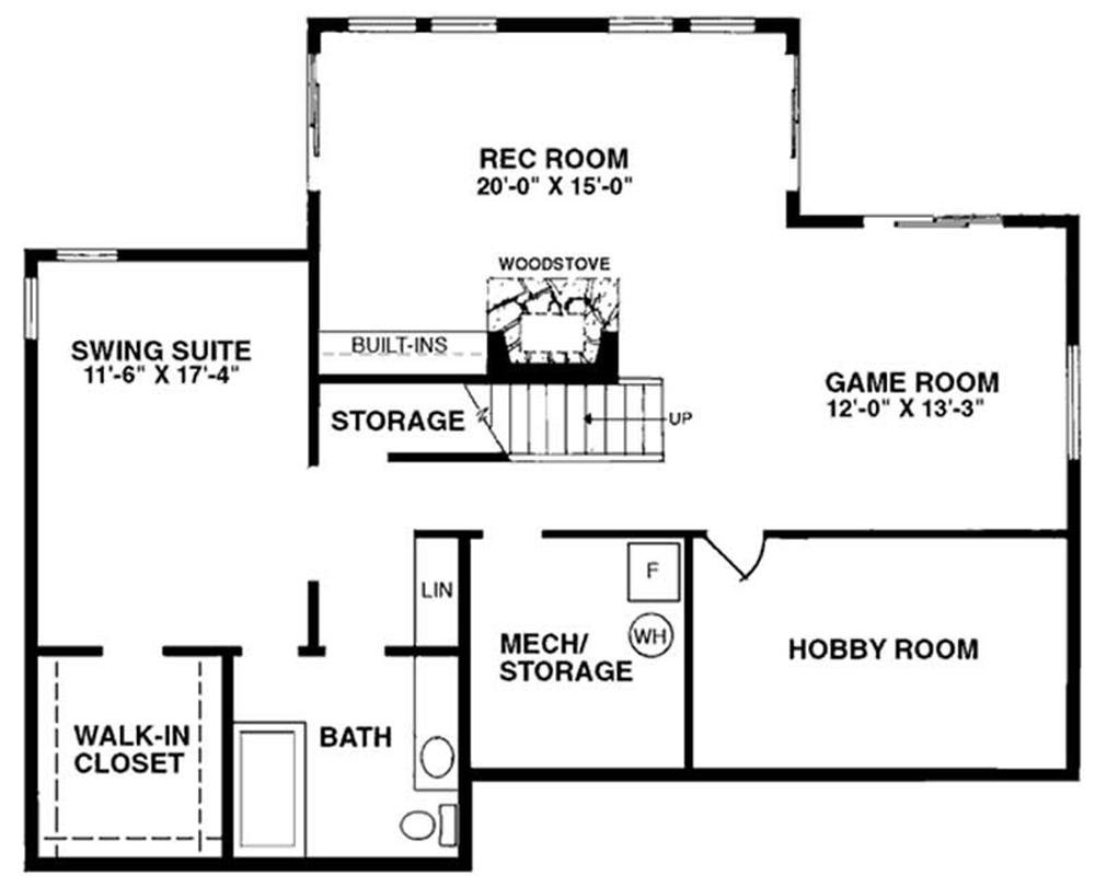 Floor Plan Basement LS-H-94003-B