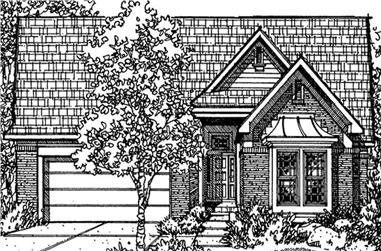 2-Bedroom, 2219 Sq Ft Cottage Home Plan - 146-1975 - Main Exterior