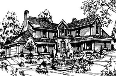 4-Bedroom, 5620 Sq Ft Luxury Home Plan - 146-1976 - Main Exterior