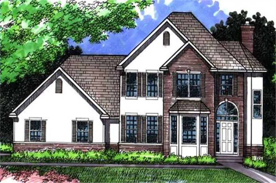 3-Bedroom, 2503 Sq Ft European Home Plan - 146-1978 - Main Exterior