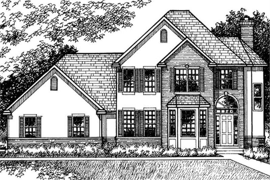 Home Plan Front Elevation of this 3-Bedroom,2503 Sq Ft Plan -146-1978