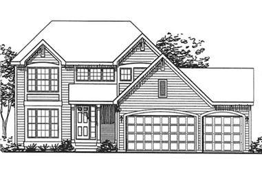 2-Bedroom, 2012 Sq Ft Country Home Plan - 146-1979 - Main Exterior