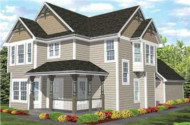 4-Bedroom, 2326 Sq Ft Country Home Plan - 146-1981 - Main Exterior