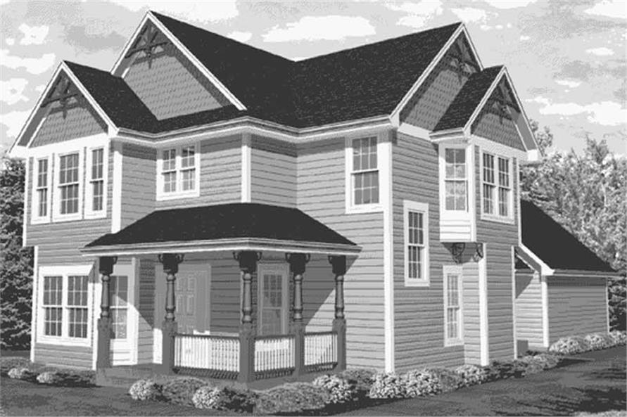 Home Plan Front Elevation of this 4-Bedroom,2326 Sq Ft Plan -146-1981