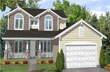 4-Bedroom, 2531 Sq Ft Country Home Plan - 146-1982 - Main Exterior