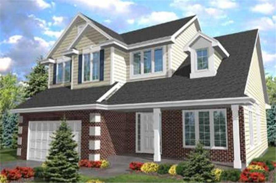 4-Bedroom, 2509 Sq Ft Country Home Plan - 146-1983 - Main Exterior