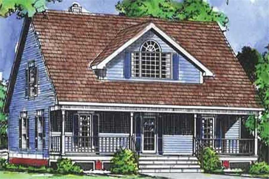 3-Bedroom, 1751 Sq Ft Country Home Plan - 146-1985 - Main Exterior