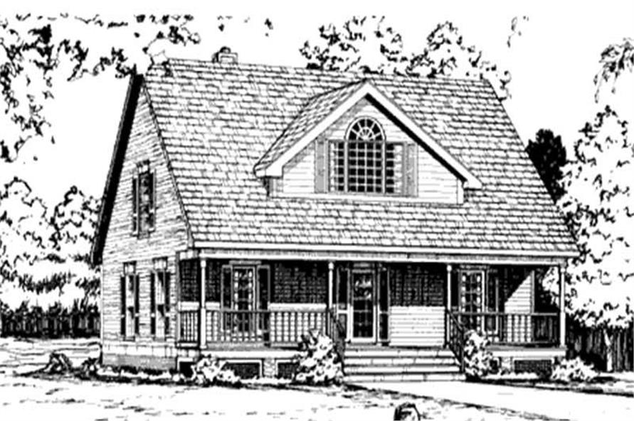 Home Plan Front Elevation of this 3-Bedroom,1751 Sq Ft Plan -146-1985