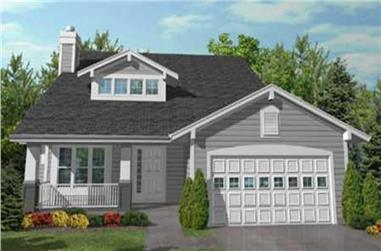 3-Bedroom, 2102 Sq Ft Ranch House Plan - 146-1989 - Front Exterior