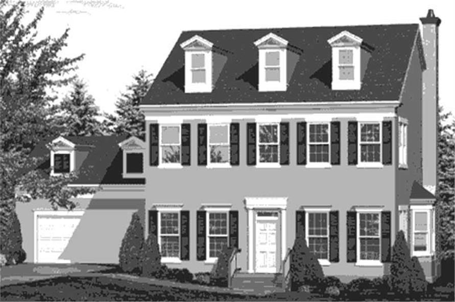 Home Plan Front Elevation of this 3-Bedroom,2526 Sq Ft Plan -146-1990