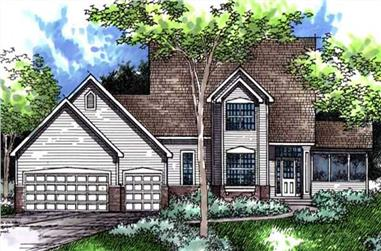 3-Bedroom, 2346 Sq Ft Farmhouse House Plan - 146-1992 - Front Exterior